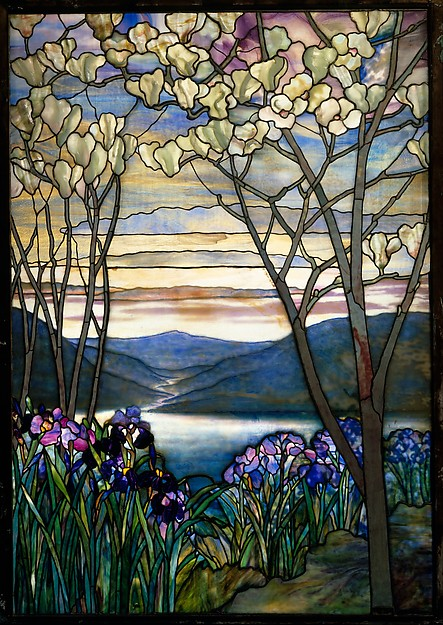 Magnolia and Irises, designed by Louis Comfort Tiffany