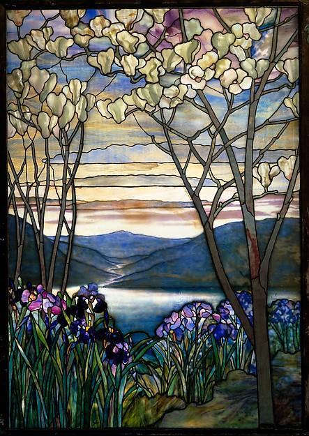 Magnolia and Irises, designed by Louis Comfort Tiffany